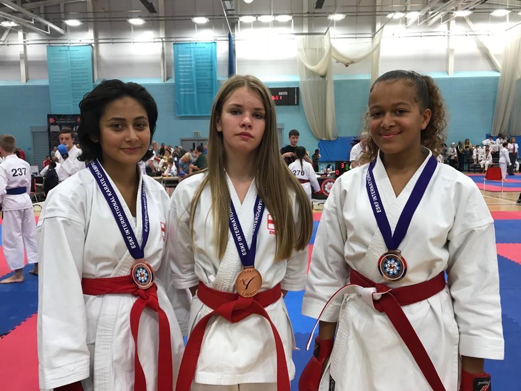 Emily, Jamie & Ariah - Junior Female Team Kumite - 3rd Place