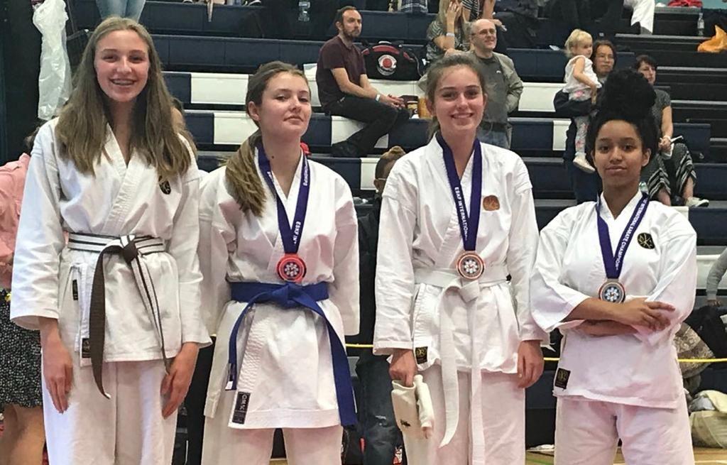 Jodie, Sophie & Dujeanaye - Female Cadets - 3rd Place